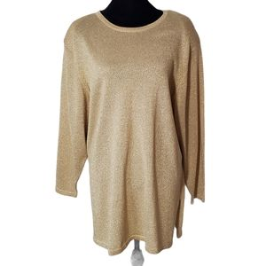 Designs by Lane Bryant Sparkly Gold Sweater Tunic